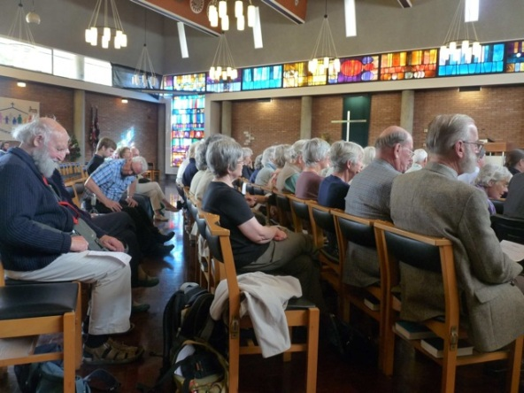 Audience at Castle Methodist (CNM Organ Trail 2014).