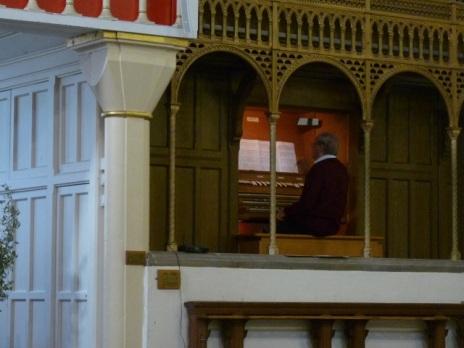 Colin Nicholson playing at St Botolph's (CNM Organ Trail 2014).