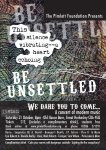 Be Unsettled flyer