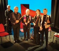 Recorder quartet with harpsichord 2016