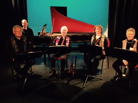 5-Part re-Inventions concert, Headgate Theatre, 4 June 2016; Dulcis Venti with Francis Knights (hps) (photo: Julia Usher).