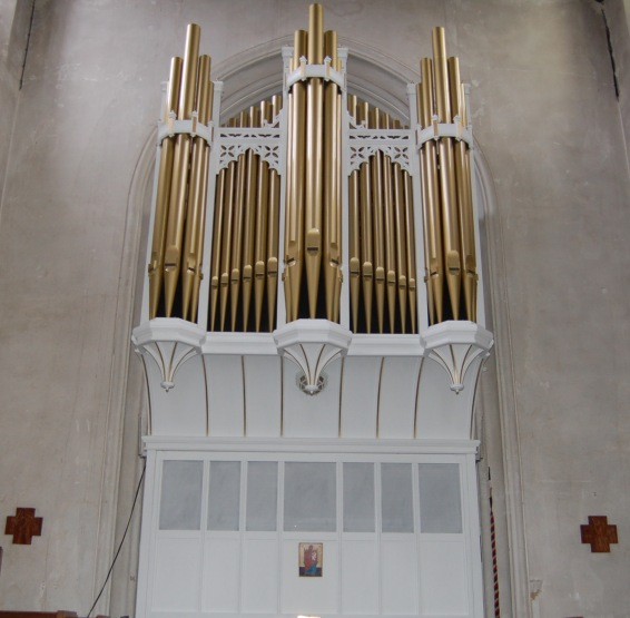 Organ pipes, St James the Great, Colchester.
