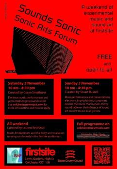 Sonic Arts Forum Festival 2013