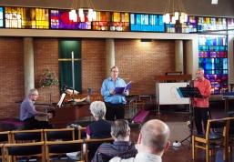 The Pale Enchanted Gold, CNM recital 17/6/17, l-r: Alan Bullard, Tim Torry and Charles Hine (photo: Francis Knights)