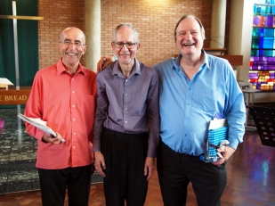 The Pale Enchanted Gold, CNM recital 17/6/17, l-r: Charles Hine, Alan Bullard and Tim Torry (photo: Francis Knights)