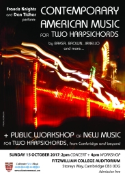 New Music for two harpsichords 2017