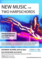 New music for two harpsichords 2018